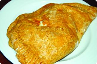 pumpkin turkey calzone baked