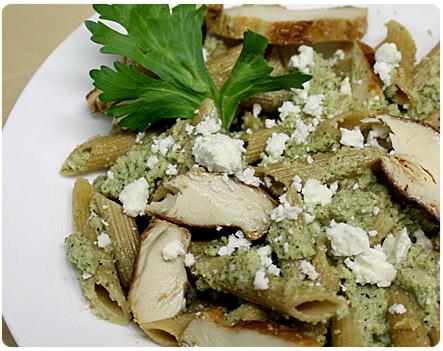 Whole wheat broccoli pesto