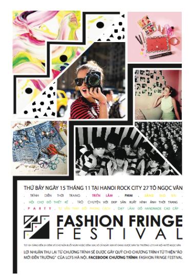 Fashion Fringe Festival poster in Vietnamese