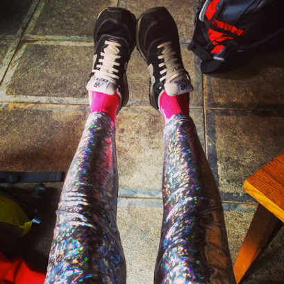HoloGraphic leggings to bedazzle the locals
