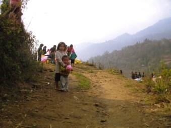 Black Hmong children playing