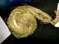 Happy Hemp spun into thread before weaving