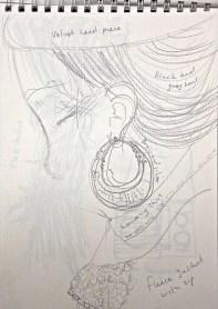 Quick sketch of earings