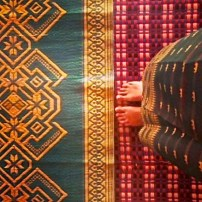 My new cambodian skirt matches the floor