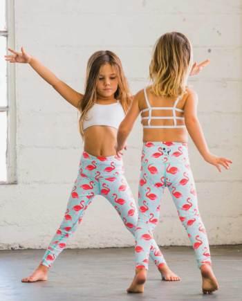 Flexi Lexi Kids Bralette White and Flamingo Flexi Kids Tights