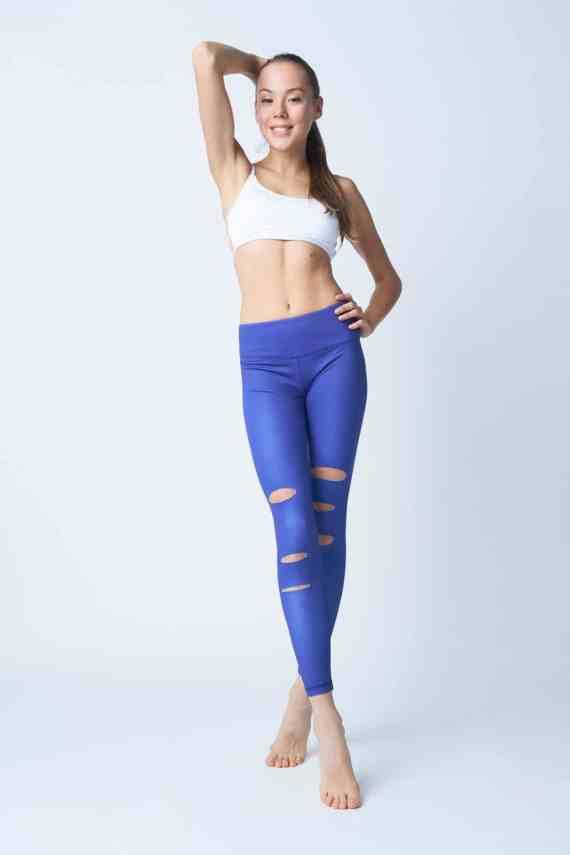 Flash Dance Electric Blue Fash Leggings