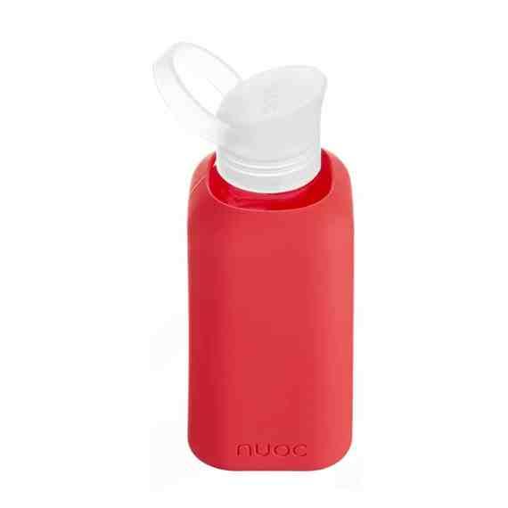 Hauteletics.no - Glass water bottle red