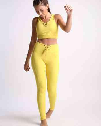 Yellow Mellow tights fra Flexi Lexi laget av resirkulert plastflasker!