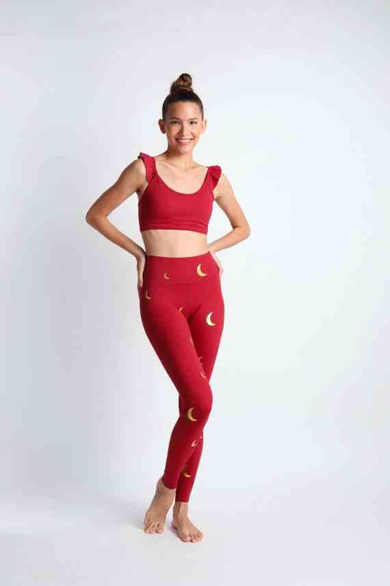 Crescent yoga pants