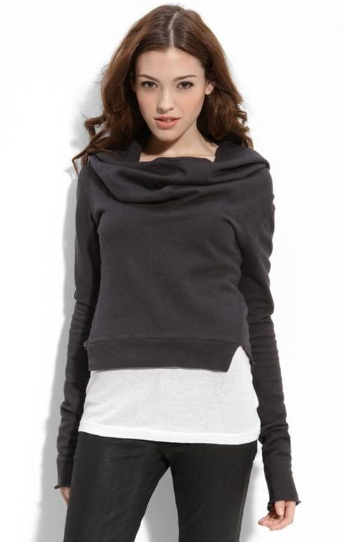IMPROVD Cowl Neck Hooded Sweatshirt $123