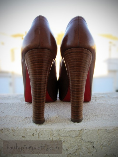 An Dyer in Brown Beige Christian Louboutin Gabin 140 Kid Cuoio Heel