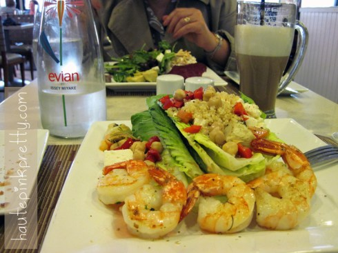 An Dyer in Neiman Marcus Zodiac Restaurant Lemon Shrimp Salad
