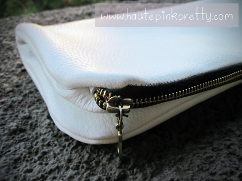 Jeffrey Lazaro White Leather Handmade Bag