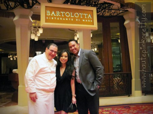 Chef Paul Bartolotta with An and Chris Dyer at Bartolotta Ristorante Di Mare