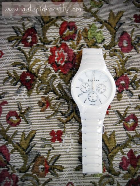 Skagen White Ceramic Watch