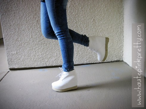 Charlotte Russe Jeggings, White Jeffrey Campbell Alexa