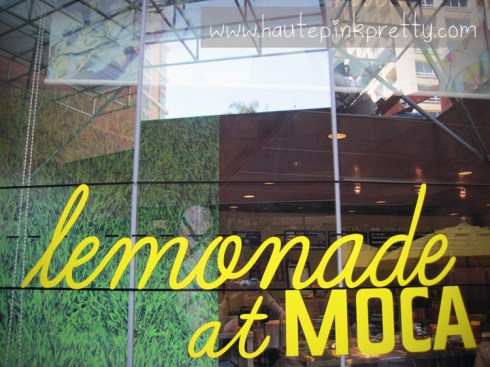 lemonade at MOCA