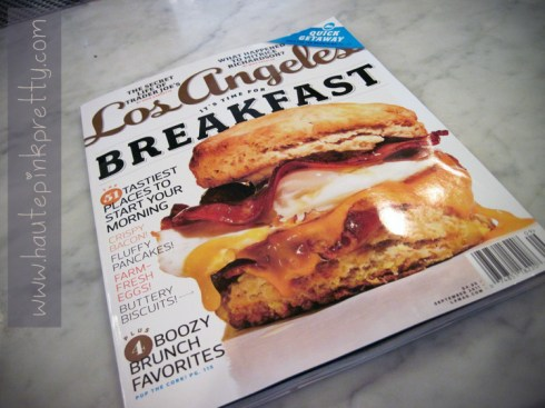 Alcove Cafe in Los Angeles Magazine's Tastiest Places To Start Your Morning