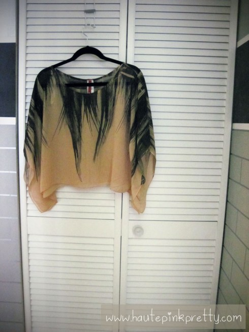 popKiller Feather Batwing Blouse