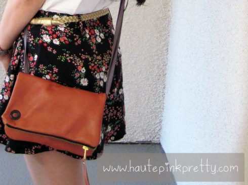An Dyer in Forever21 Top, Shorts and Belt, Jeffrey Lazaro Bag