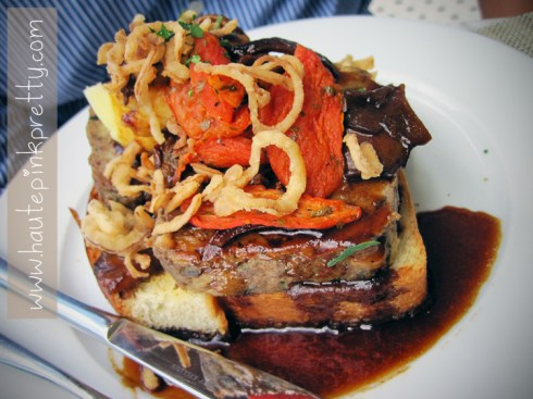 FIG Fairmont Miramar Hotel Santa Monica Open Faced Meatloaf Sandwich