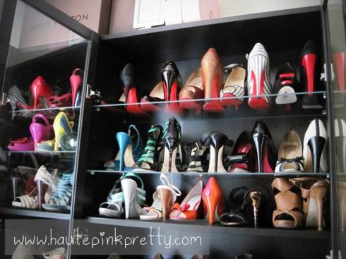 Inside An Dyer's Shoe Closet - High End Designer Shoe On Top