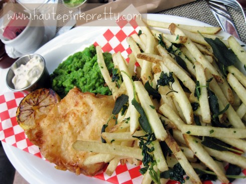 FIG Fairmont Miramar Hotel Santa Monica Fish and Chips