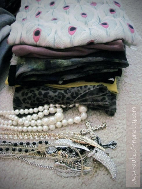 Packing for NYC - scarves & necklaces