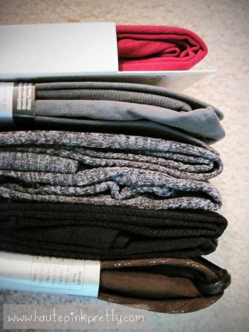 Packing for NYC - tights
