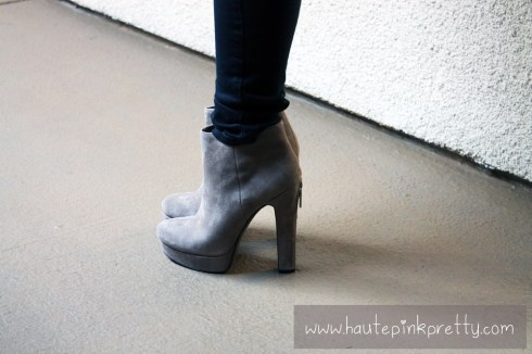 An Dyer in Levi's The Legging Jeans, BCBGeneration Joesana Bootie