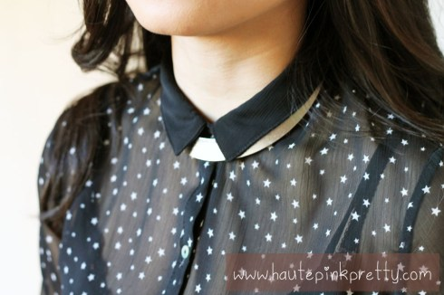 An Dyer in Zara Star Blouse, Forever 21 Silver Collar Necklace