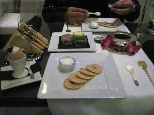 Petrossian's Egg Royale and 30g Transmontanous Caviar avec accoutrements