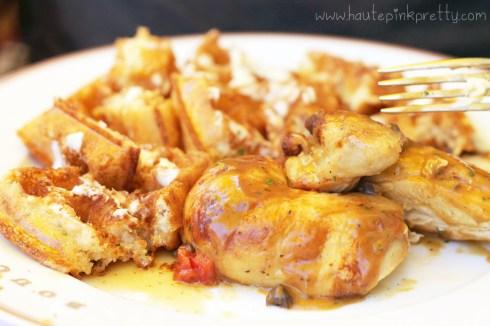 Bouchon Bistro Beverly Hills brunch - Chicken and Waffles