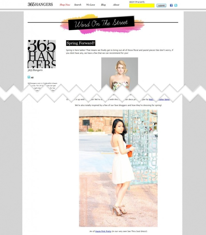365Hangers Features HautePinkPretty in their Spring Forward article.