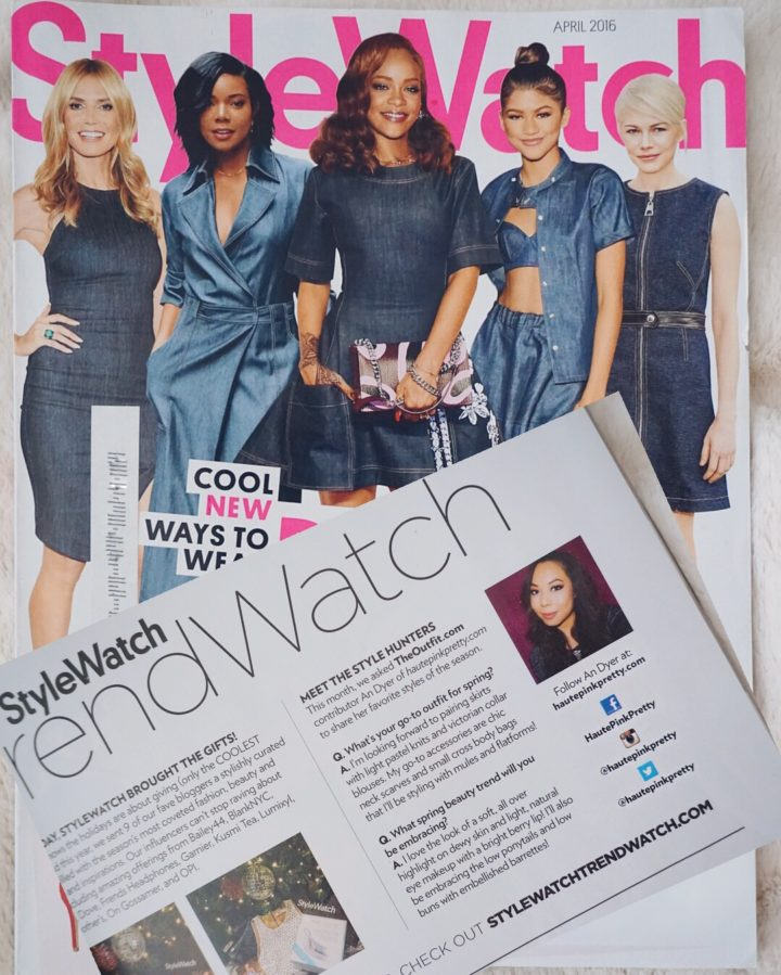 An Dyer of fashion blog HautePinkPretty featured in StyleWatch April 2016