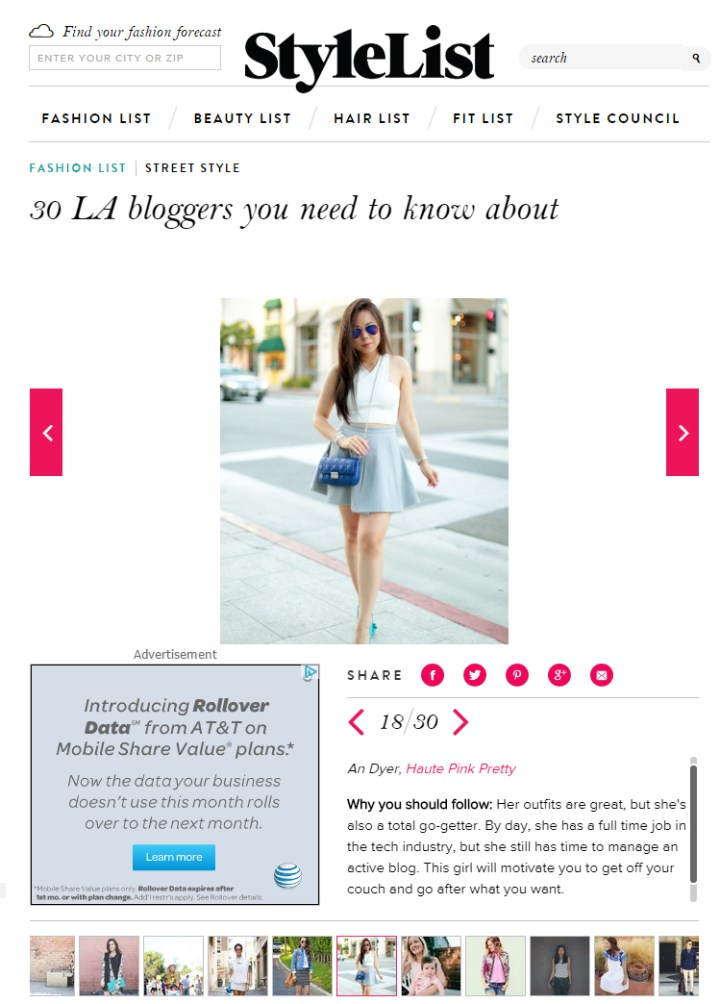 StyleList 30 LA Bloggers you need to know about