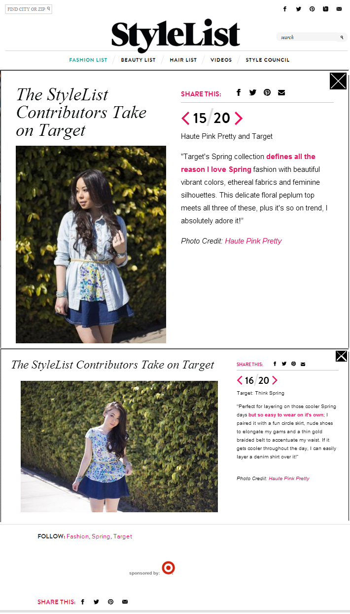 StyleList for Target Style