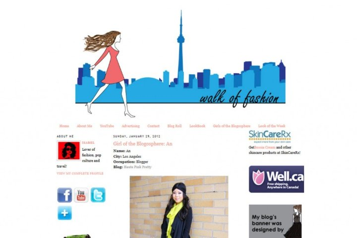 Walk of Fashion features HautePinkPretty as Girl of the Blogosphere