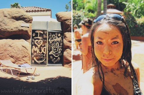 HautePinkPretty - An Dyer - Glen Ivy Hot Springs Club Mud - Red Clay Mud Bath - waterproof makeup
