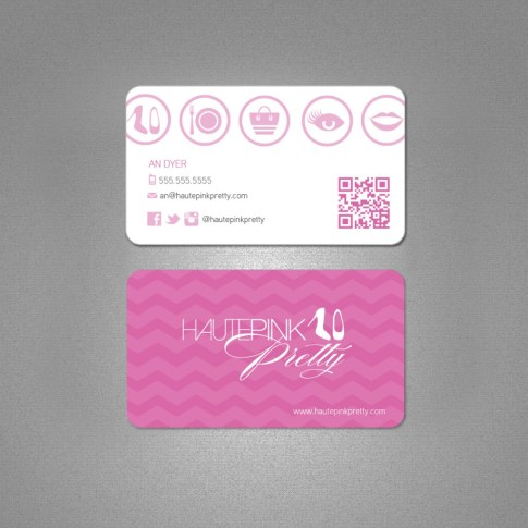 HautePinkPretty Business Card Design by Joe Lazaro