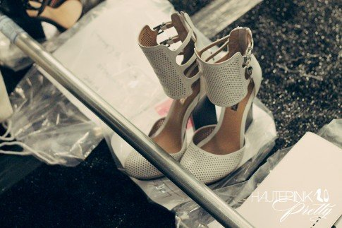 BCBGMaxazria Runway SS13 Backstage Behind the Scenes - The Shoes