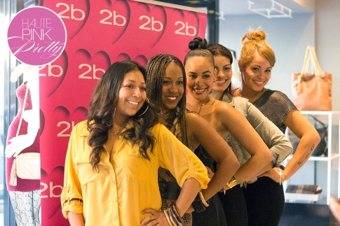 2b by bebe Blogger State of Style Soiree - 2b ladies in front of the press wall