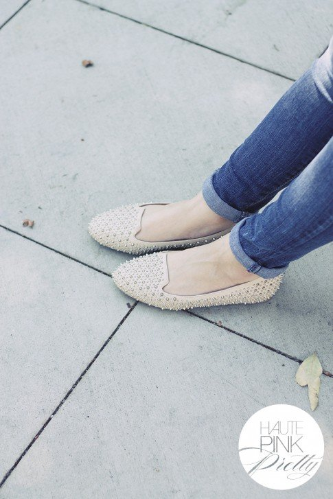www.HautePinkPretty.com - An Dyer wearing Jeffrey Campbell Martini in SP Nude from Moo Venice and Levi's Skinny Jeans