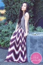 www.HautePinkPretty.com - An Dyer wearing Line & Dot Sunburst Pleat maxi Skirt, Forever 21 Tank & Rosary Necklace, Glint & Gleam Jewelry co ShopLately, Rayon Bralette in Red Velvet co Honeydew Intimates 4
