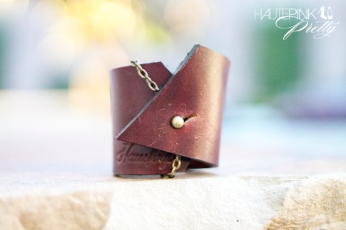 www.HautePinkPretty.com - HAUSKRFT 1 of 1 Leather Cuff