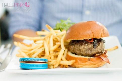 HautePinkPretty Brunch at Petrossian Paris WeHo West Hollywood Burger