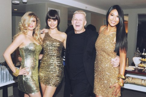 Joico's International Art Director Damien Carney with the models TURNHEADS