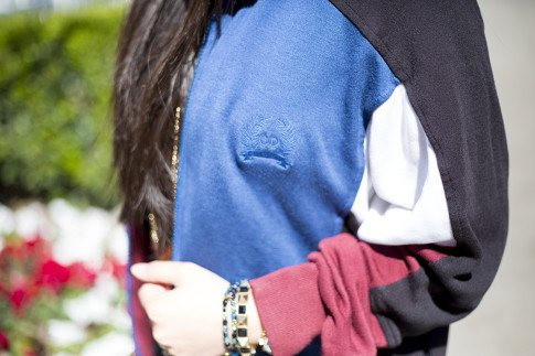 An Dyer wearing vintage Christian Dior Track Jacket