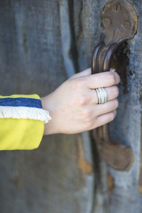 JewelMint Layered Ice Ring