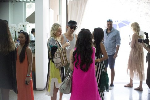 An Dyer, Sheryl Luke, Lubov Azria, Cuit Gonzalez at the BCBGMaxazria Benefit Beauty Bungalow Coachella 2013